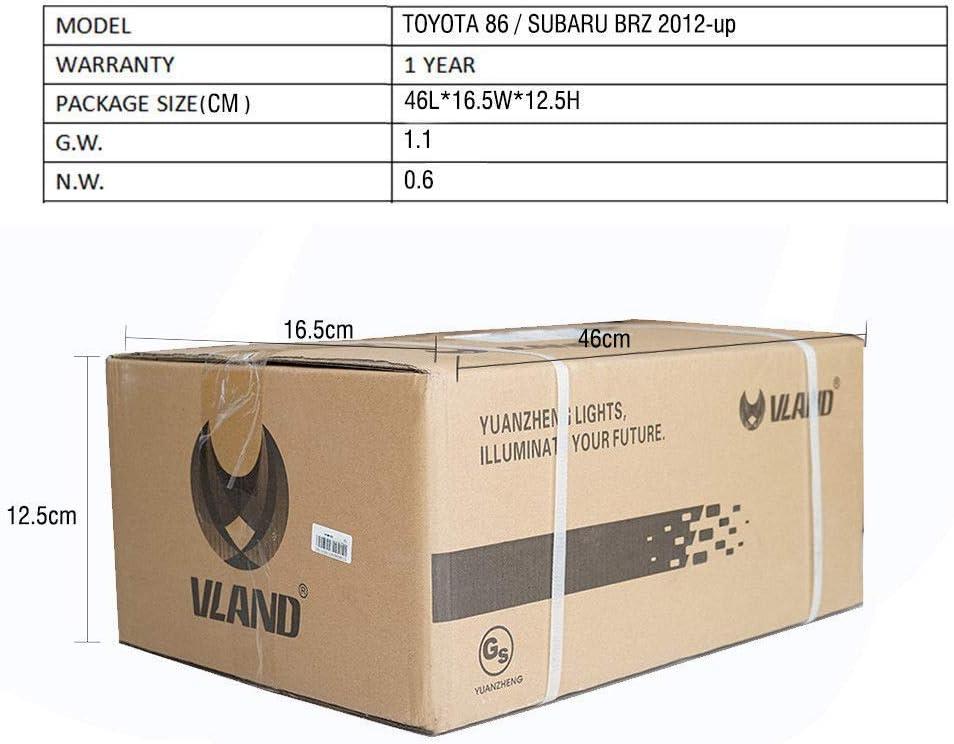 VLAND Ger/äuchert f/ür BRZ /& FT86 GT86 ZN6 2012-2018 LED Bar Hintere Licht