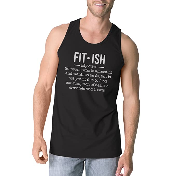995d912ca4d45 365 Printing Fit-ish Mens Funny Workout Cotton Gym Tank Top Unique Graphic  Tanks (