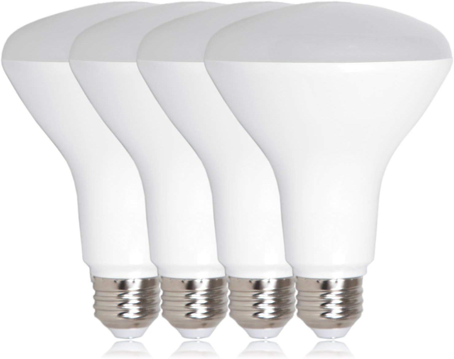 BR30 LED Flood Light Bulb TriGlow 8-Watt Energy Star 65W Dimmable 4-PACK