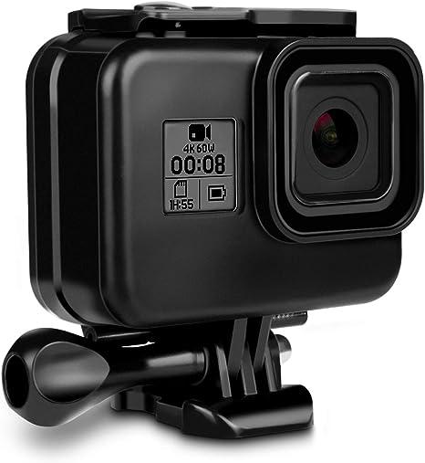 Caja Protectora para GoPro Hero 8 Black Accesorio, iTrunk 60M Funda de Protección Subacuática Carcasa Protectora Accesorio con Pinza de Montaje Rápido(Negro): Amazon.es: Electrónica