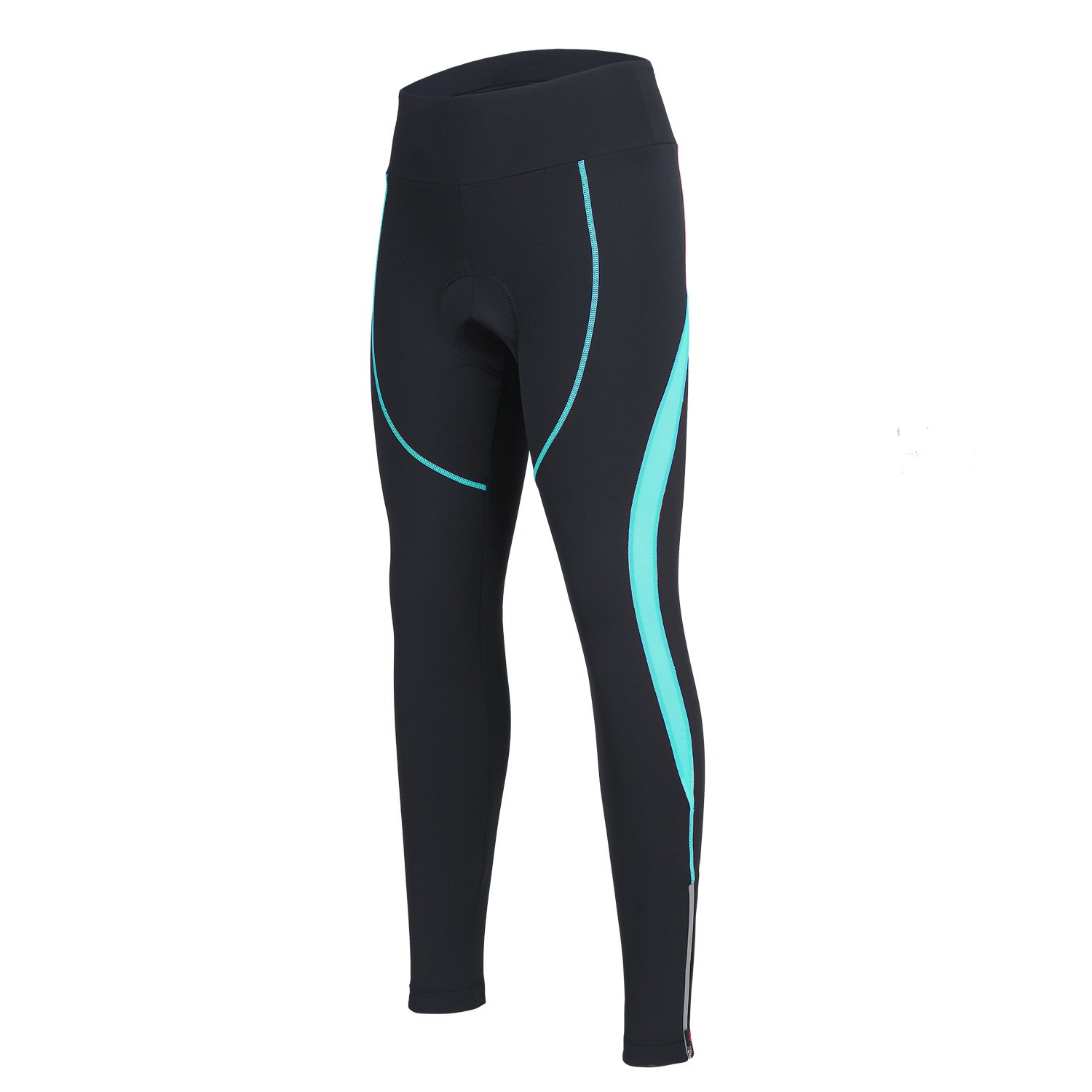 Women's Cycling Pants 3D Padded Compression Tight, Long Bike Bicycle Pants with Wide Waistband (Blue,M) by SPOEAR