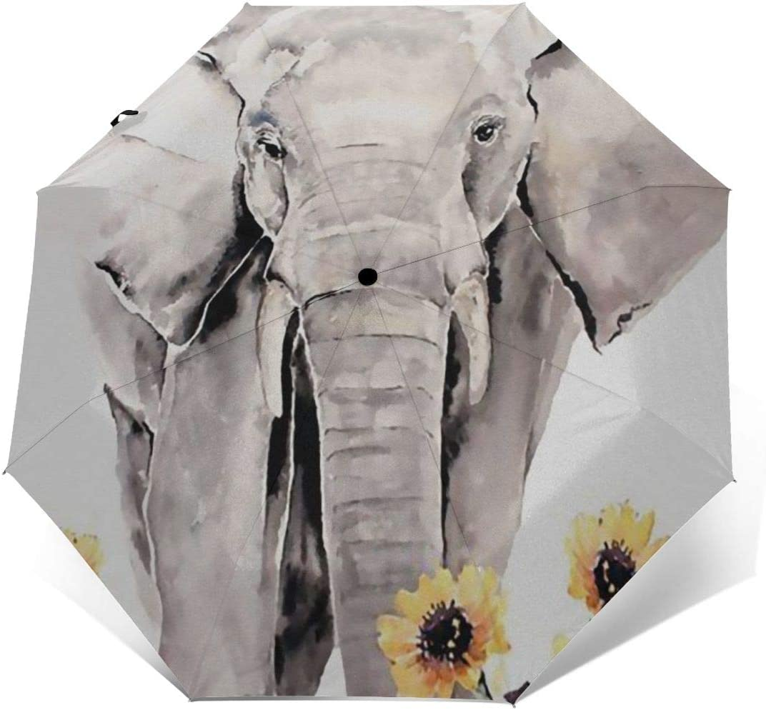 Like Sunflower Compact Travel Umbrella Rain Umbrella Windproof Lightweight Auto Open//Close Folding Umbrella Rain Repellent Canopy Newly Handle