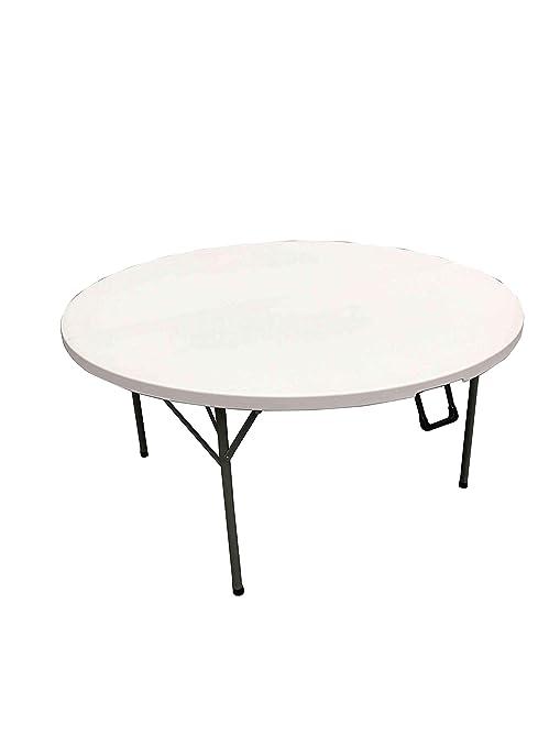 ACTIEXPRESS Table Ronde Pliante Type Valise, Table de Jardin ...