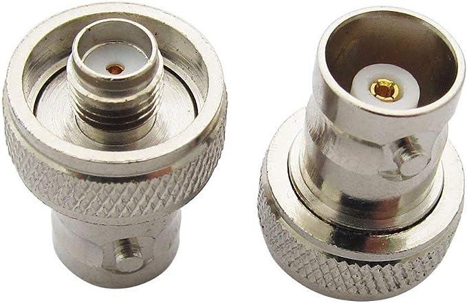 TengKo Original SMA Hembra a BNC Hembra Conector Adaptador de Conversión para Dos Manera Radio Baofeng UV-5R fd-880 y más Funda para Antena(2 Pack)