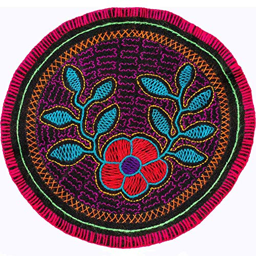 (Shamans Market Shipibo Embroidery Round - 9 in)