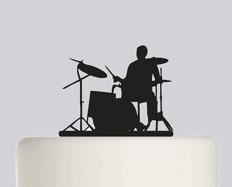 Brilliant Birthday Cake Topper Drum Kit Drummer Happy Birthday Acrylic Funny Birthday Cards Online Overcheapnameinfo