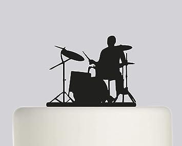 Pleasing Birthday Cake Topper Drum Kit Drummer Happy Birthday Acrylic Funny Birthday Cards Online Bapapcheapnameinfo