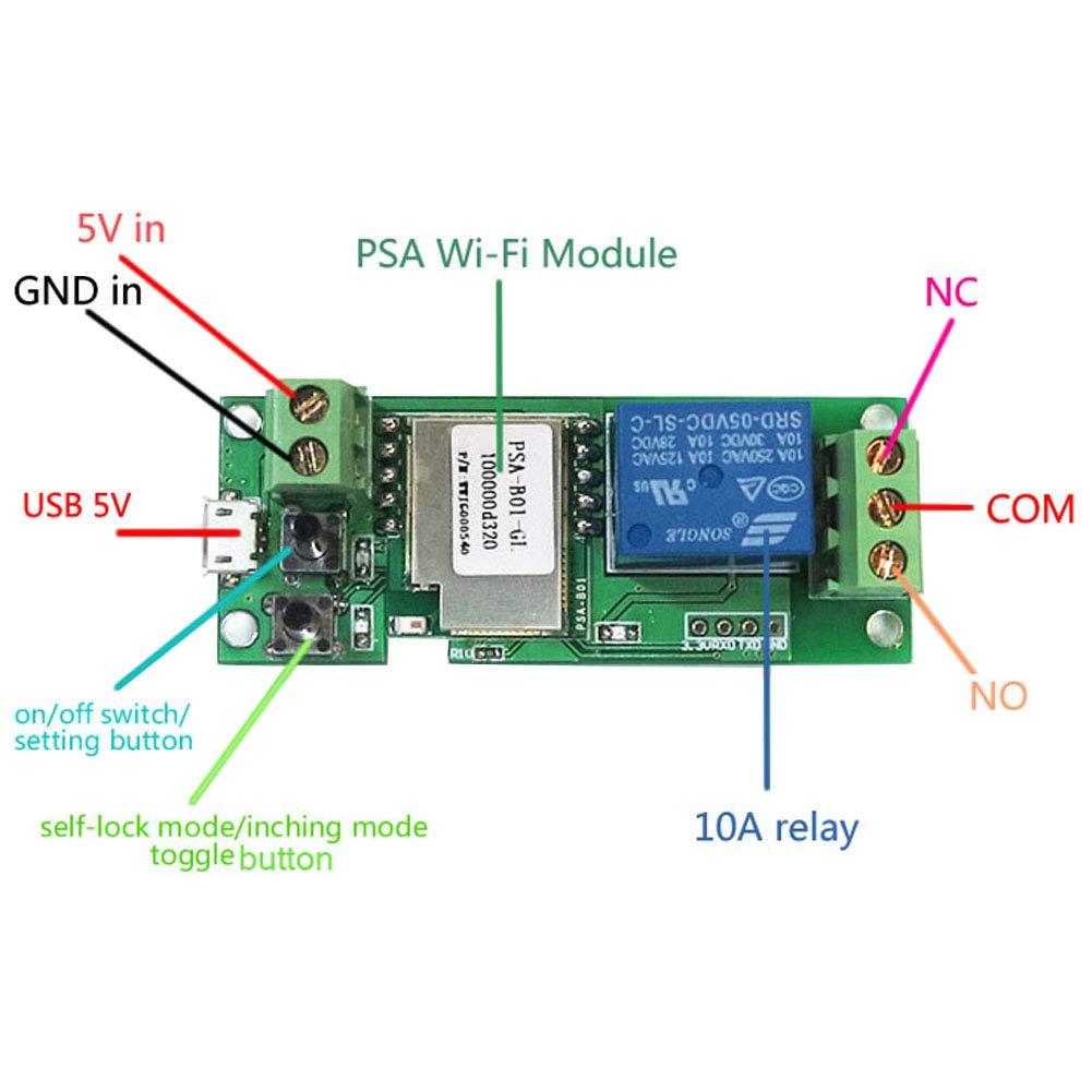 Onyehn SONOFF USB 5V 5V/12V DIY 1 Channel Jog Inching Self