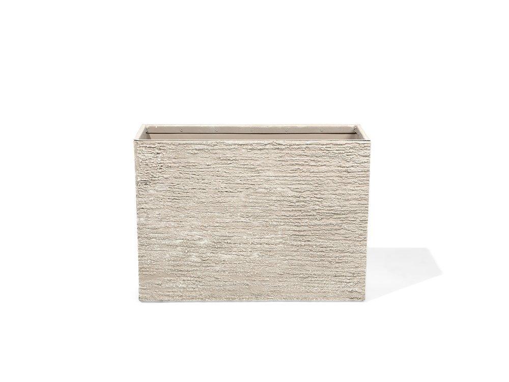 Beliani Blumenkübel beige rechteckig 29 x 70 x 50 cm Edessa: Amazon ...