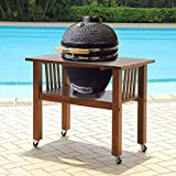 Duluth Forge Kamado Ceramic Egg Smoker Grill With Table – Medium Model For Sale