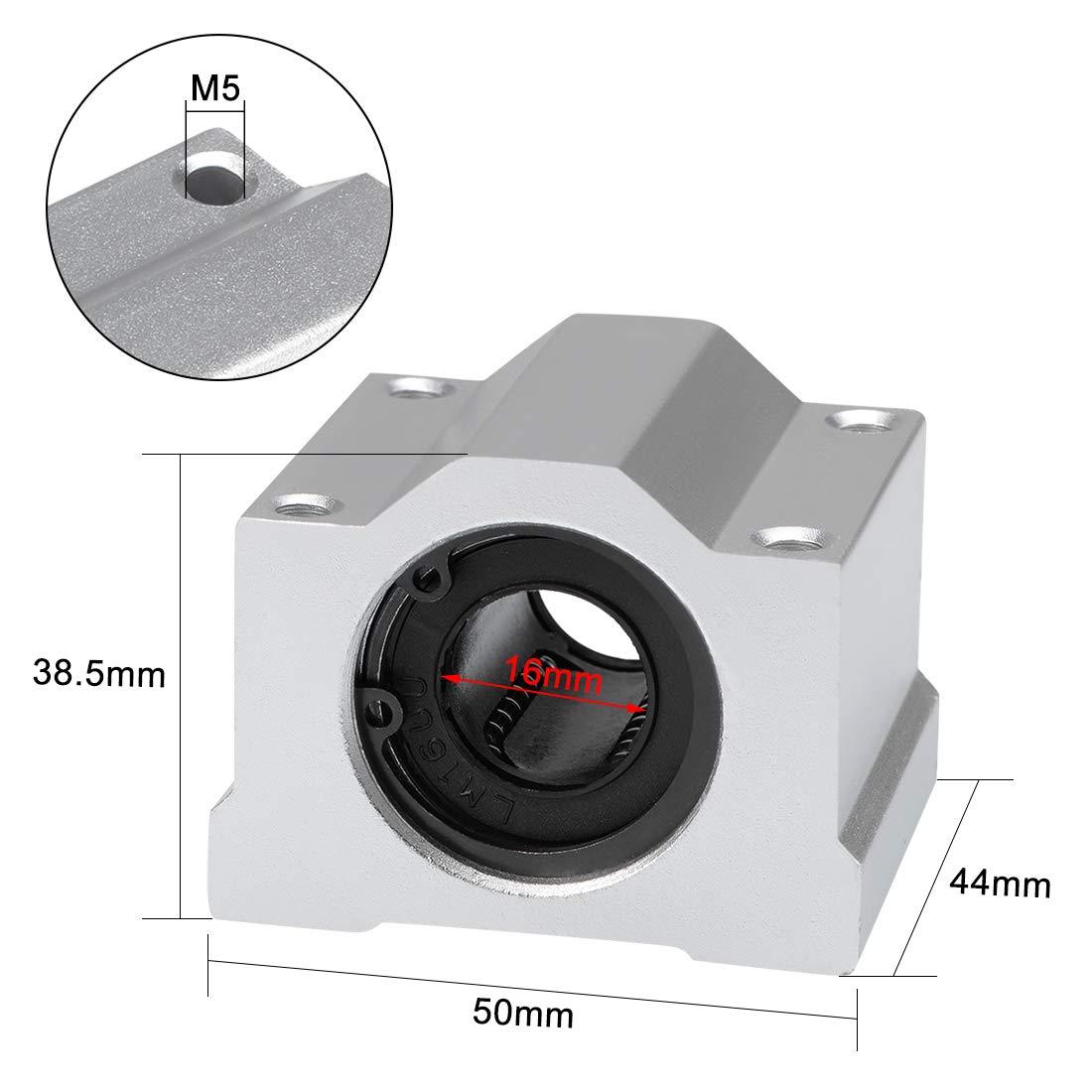 Blocs glissi/ères Roulement billes lin.s SCS16UU Dia al/ésage 16mm pack 2