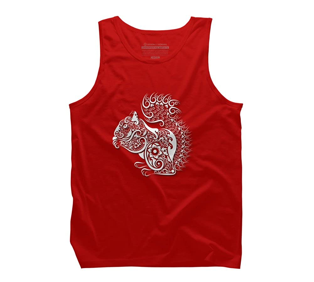 Design By Humans Squirrel ornament decoration Mens Graphic Tank Top