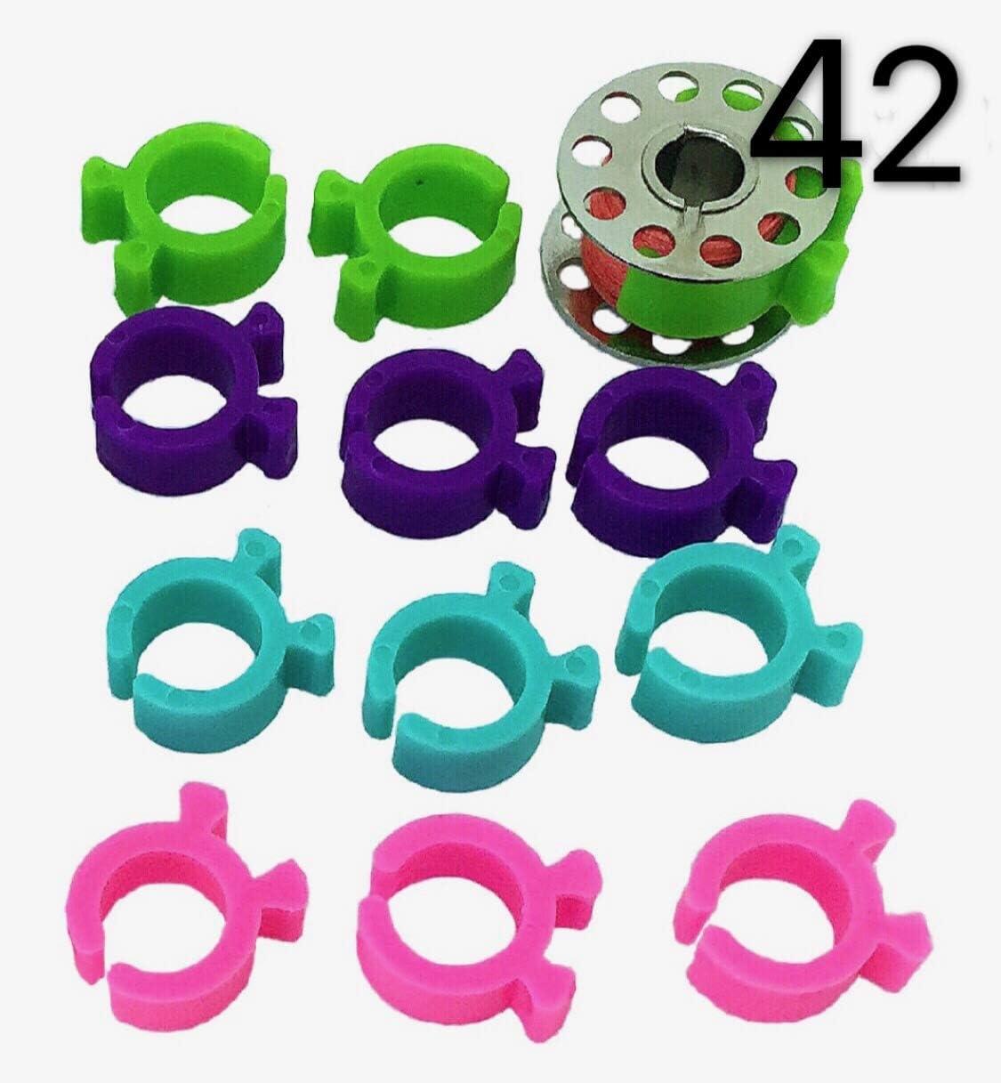 PeavyTailor 42 clips de sujeción para bordado de hilo de coser ...