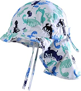 Sun Hat Adjustable Breathable Baby Bucket Cap with Sling UV Protection Cap for Boys and Girls