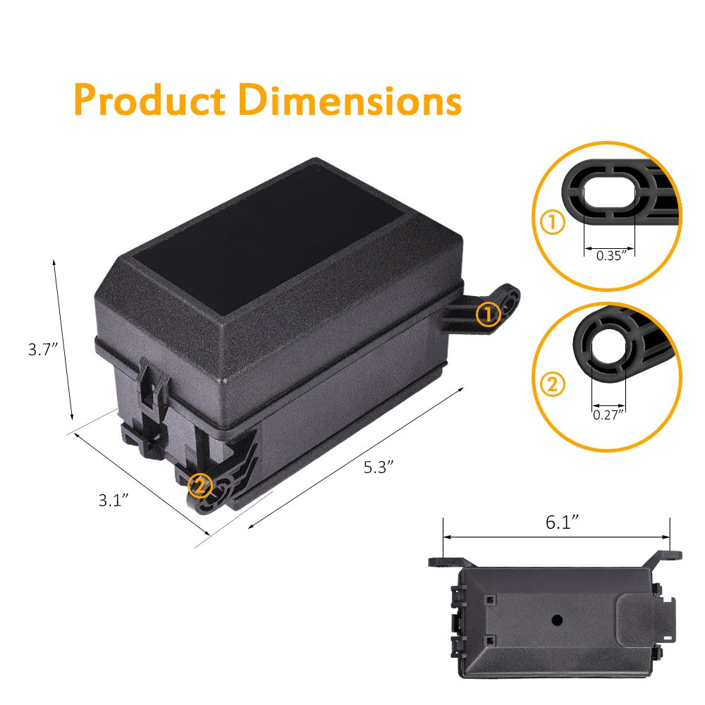 MICTUNING 12-Slot Relay Box,6 Relays,6 ATC//ATO Fuses Holder Block with 41pcs Metallic Pins for Automotive and Marine Engine Bay