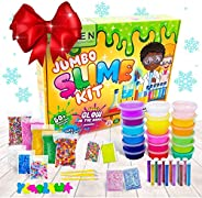 Zen Laboratory DIY Slime Kit Toy for Kids Girls Boys Ages 3-12, Glow in The Dark Glitter Slime Making Kit - Sl