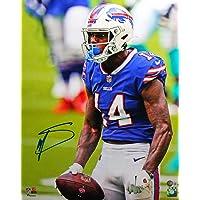 $125 » Stefon Diggs Autographed Buffalo Bills Close Up 16x20 FP Photo- Beckett W Blue