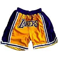 SPORTS Hombre Jersey Lakers Pantalones De Baloncesto James # 23 Pantalones Cortos Deportivos para Hombres Competición De…