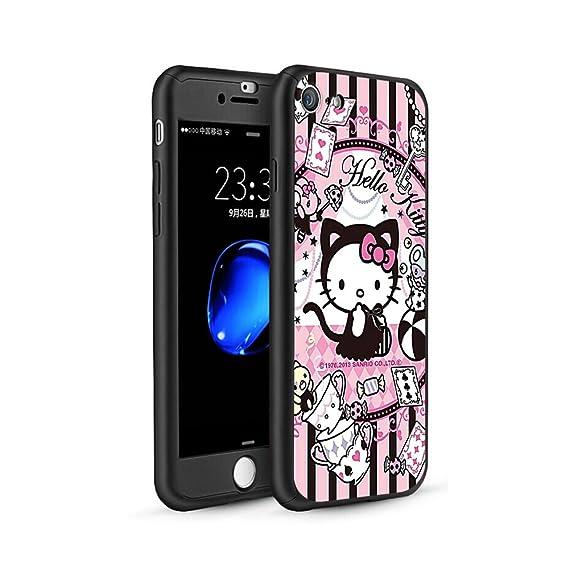 b35fee587 GSPSTORE iPhone 5/5S/SE Case,Hello Kitty Cartoon 360 Full Body Protection