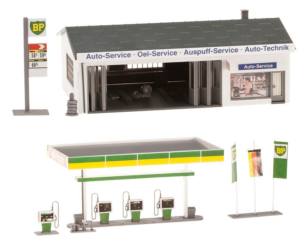 FALLER 130345 - Tankstelle mit Servicegebäude Modelleisenbahn / Aufbauten Modelleisenbahn / Gewerbe und Industriegebäude Modelleisenbahn / Sonstige Gebäude