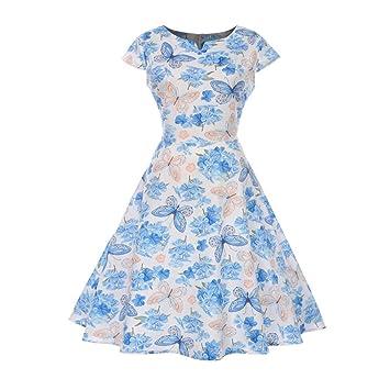 Vestido de noche plisado estilo vintage de años 50 y 60 con diseño floral de Saihui