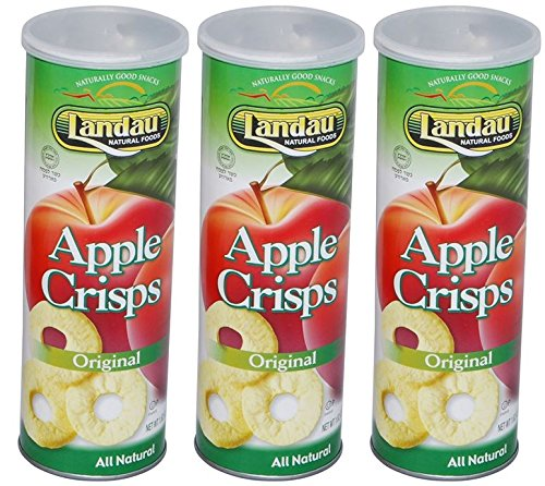 Landau Apple Crisps All Natural Pack of 3 (Original): Amazon.com