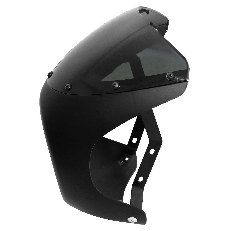 Skull Chrome 7 Headlight Visor Heavy Duty Thick Compatible with Harley XL XLH FXR FX HONGK B07MR8GDT3