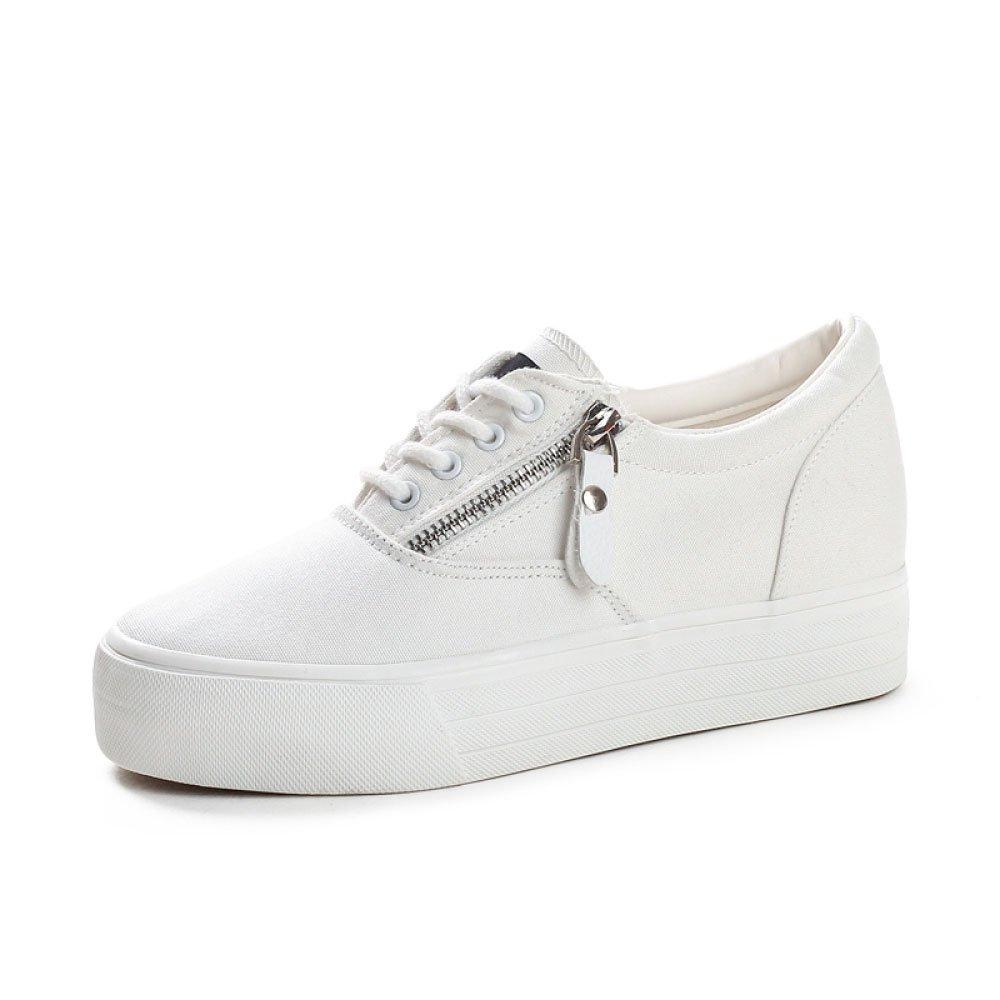 Koyi Chaussures Femmes 19956 Toile Chaussures Nouveaux Sneakers Étudiants Taille Interne Petit Blanc Chaussures Dentelle Chaussures Espadrilles Sneakers white 2ff36cf - jessicalock.space
