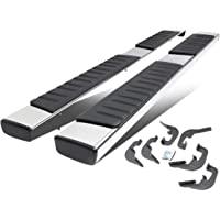 6 Inches Chrome Polished Side Step Nerf Bar Running Boards Replacement for Chevy Silverado GMC Sierra Extended Cab 07-19
