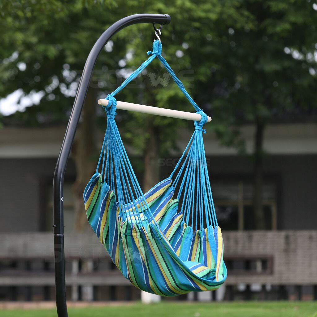 CUORE BANGKOK Hammock Hanging Chair Air Deluxe Sky Swing Outdoor Rope Chair Solid Wood 250lbs