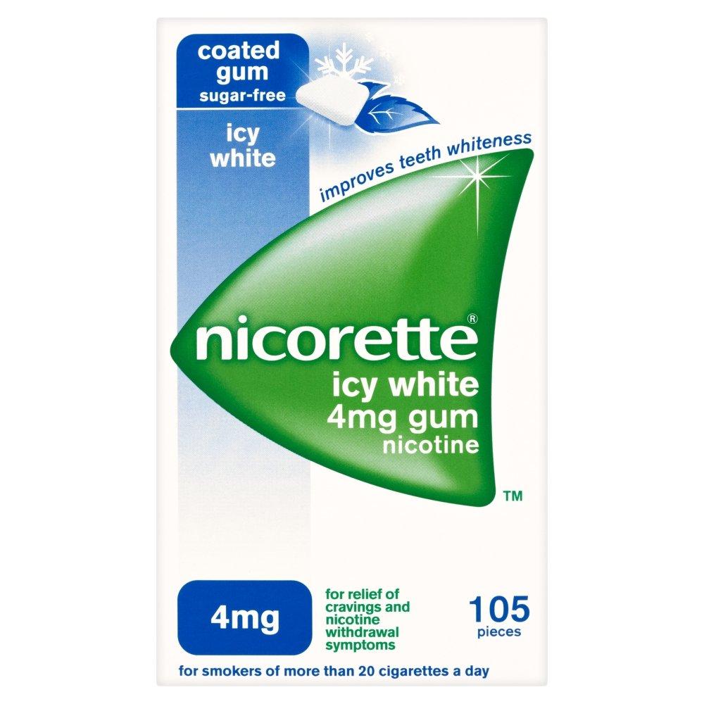 Nicorette Gum Icy White 4mg 105 Count Box (UK)