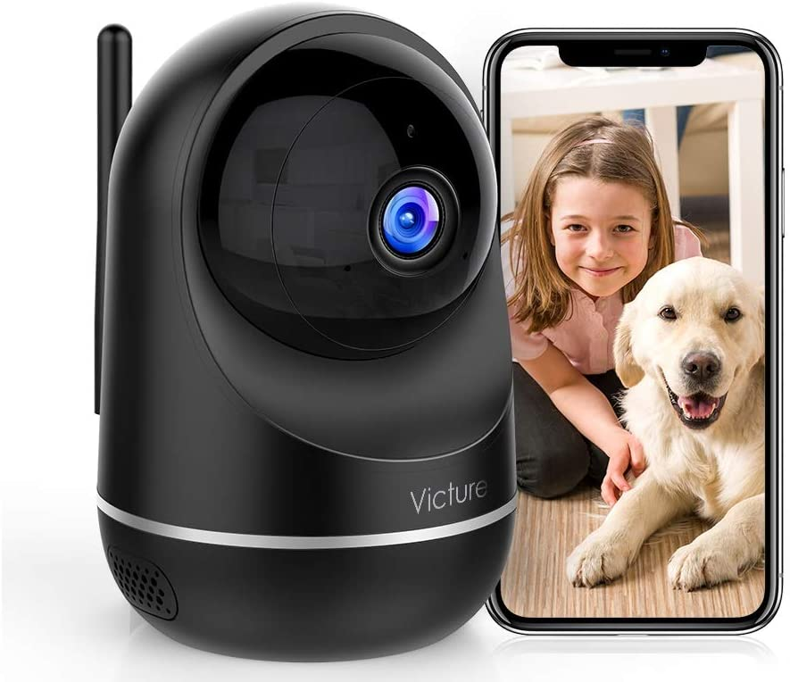 Home Camera, Victure 1080P 2.4G and 5G Dual Band WiFi Camera, Pan/Tilt/Zoom, Motion Detection, Two-Way Audio, Auto Night Vision Security Camera
