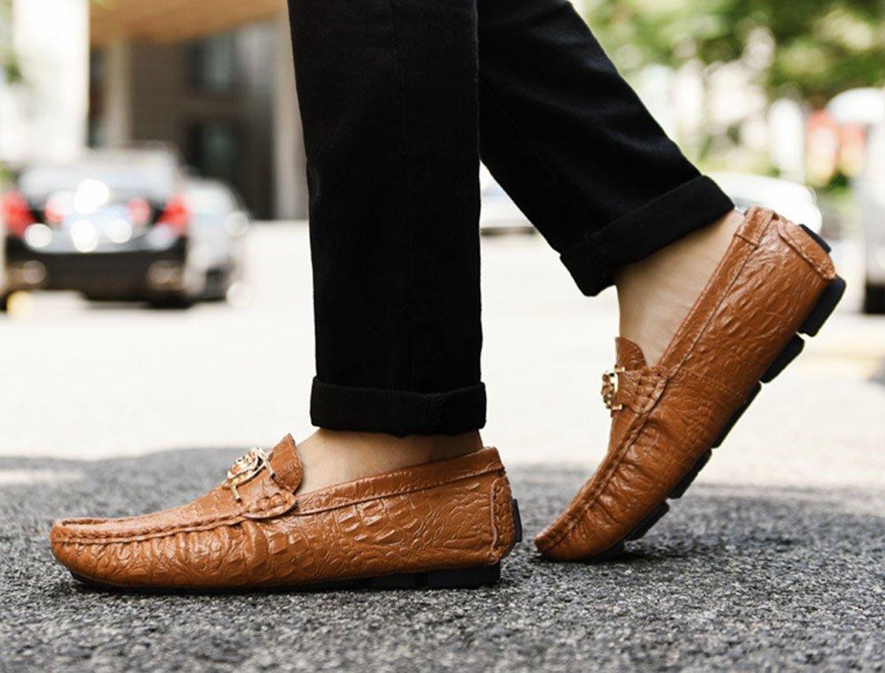 CAI Männer Mikrofaser Loafers & Slip-Ons 2018 Frühjahr Herbst Herbst Herbst Faule Schuhe Herren Stiefelschuhe Fahr Schuhe Daily Office (Farbe   Braun, Größe   40) c63f48