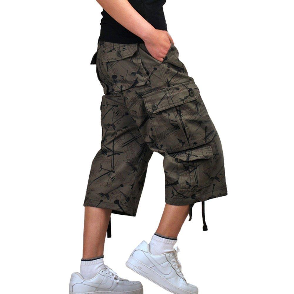 Crazy Men's Cotton Vintage Military Work Cargo Shorts PantUS 36(Label Size 38)