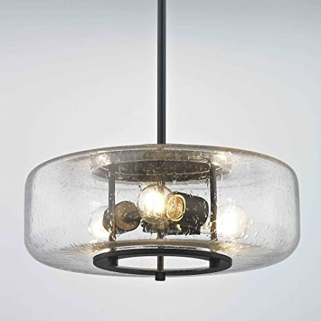 3 light glass pendant red industrial seeded glass pendant light with lights bronze finish
