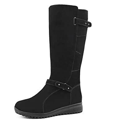 Amazon.com | Comfy Moda Women's Wool-Lined Cold-Weather Boots Leslie | Mid-Calf