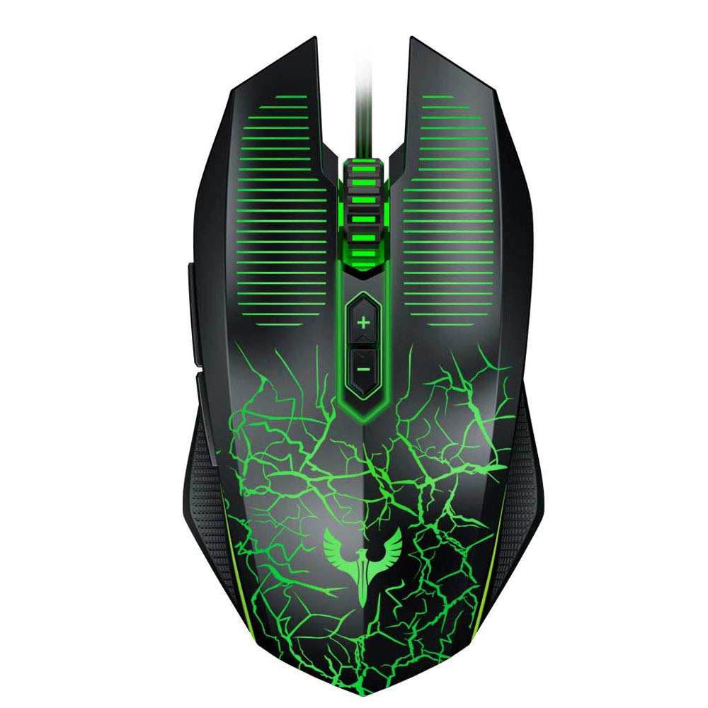 Blade Hawks Gaming Mouse Wired, Chroma RGB Backlit 7 Programmable Buttons 6 DPI Adjustable , Ergonomic Optical Gaming Mice for PC, Computer, Laptop, Desktop, Windows- GM-X6