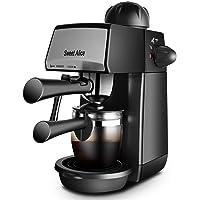 Espressomaschine 5 Bar, Kaffeemaschine, Sweet Alice Siebträgermaschinen 4 Tassen 240ml,mit Milchaufschäumer für Cappuccino Caffee 800W