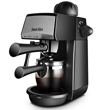 Máquina de café espresso Sweet Alice de 5 bares, 4 tazas de 240 ml,
