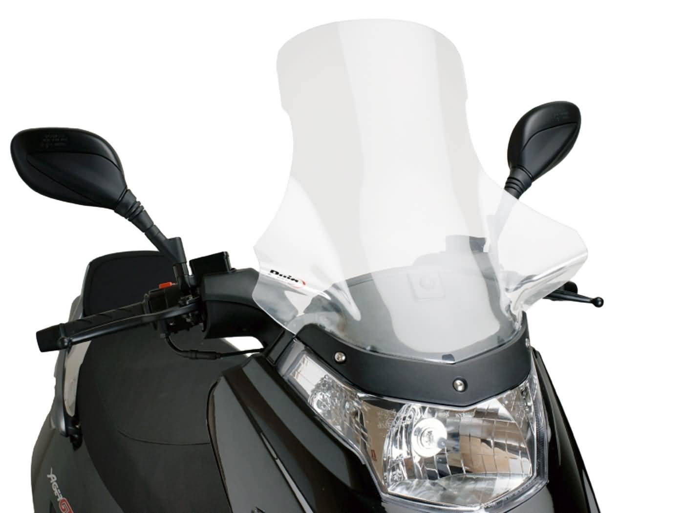 Puig 4539 W parabrezza Touring per Maxiscooter Kymco Dink 50//125//250 2007-2015 media Yager GT 50//125//200 I 2007-2015 trasparente