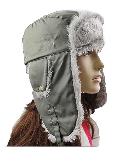 8d4645aac27ce YOYEAH Trapper Hat Winter Ear Flap Hat Adjustable Waterproof Windproof  Skiing Cap for Men Women Army