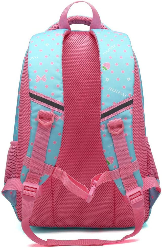 Color : Green, Size : S MMJ Primary School Schoolbag Girl 1-3-4-5 Grade 6-12 Year Old Girl Schoolbag Primary School Backpack Childrens School Bag