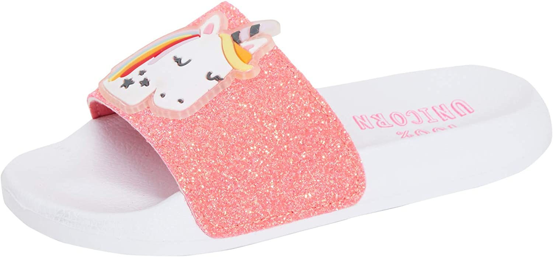 Lora Dora Girls Rainbow Unicorn Sliders