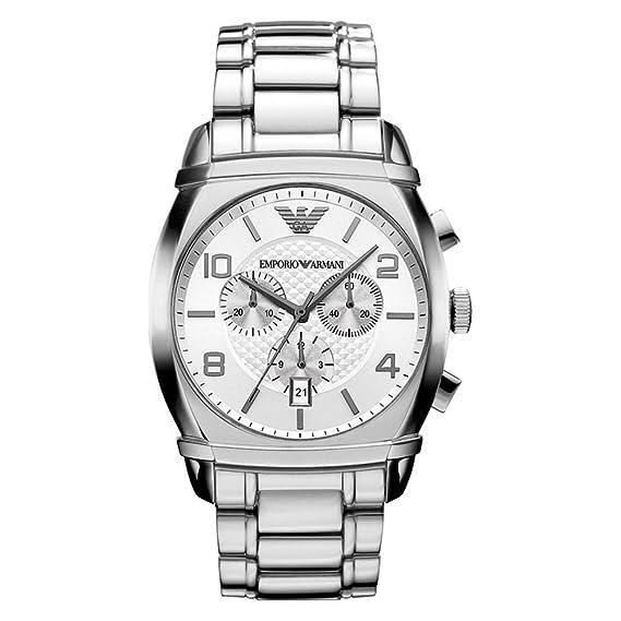 Emporio Armani AR0350 - Reloj cronógrafo de Cuarzo para Hombre, Correa de Acero Inoxidable Chapado