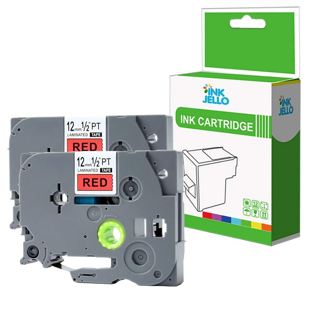 InkJello Compatibile Nastro per Etichettatura Replacement per Brother GL-100 200 200VP H100 H105 H105VP PT-1000 1000P 1005FB 1010 1080 1090 1230PC 1260VP Tze231 1//2 12mm Nero su Bianco, 10-Pack