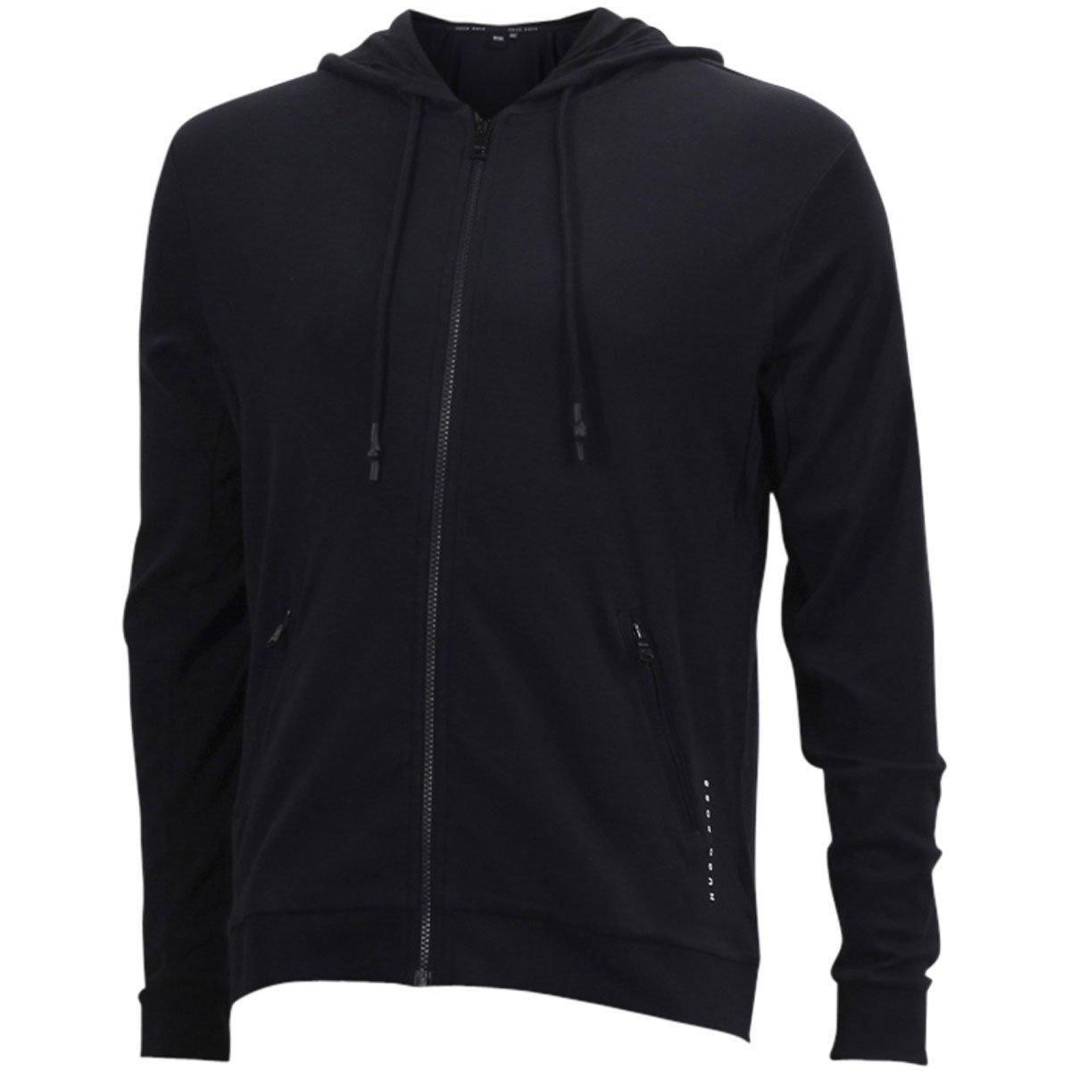 Hugo Boss Black Interlock Cotton Zip-Through Hooded Sweatshirt Jacket Sz: XL