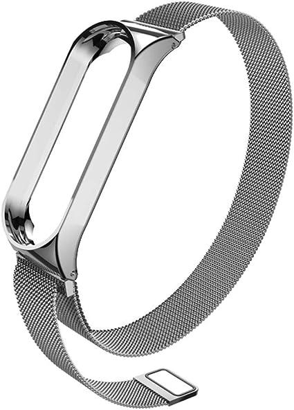 Correa Xiaomi Mi Band 3, Cierre Magnético de Lujo de Acero ...
