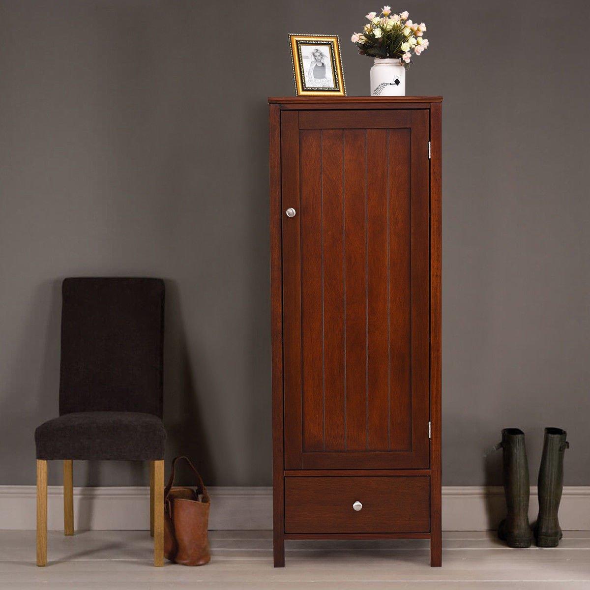 Amazon.com: Armarios Lapha de 1 puerta, 1 cajón, madera ...