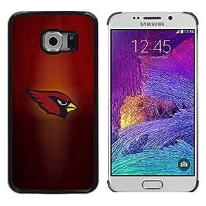 iKiki Tech / Estuche rígido - Cardenal Equipo deportivo - Samsung Galaxy S6 EDGE