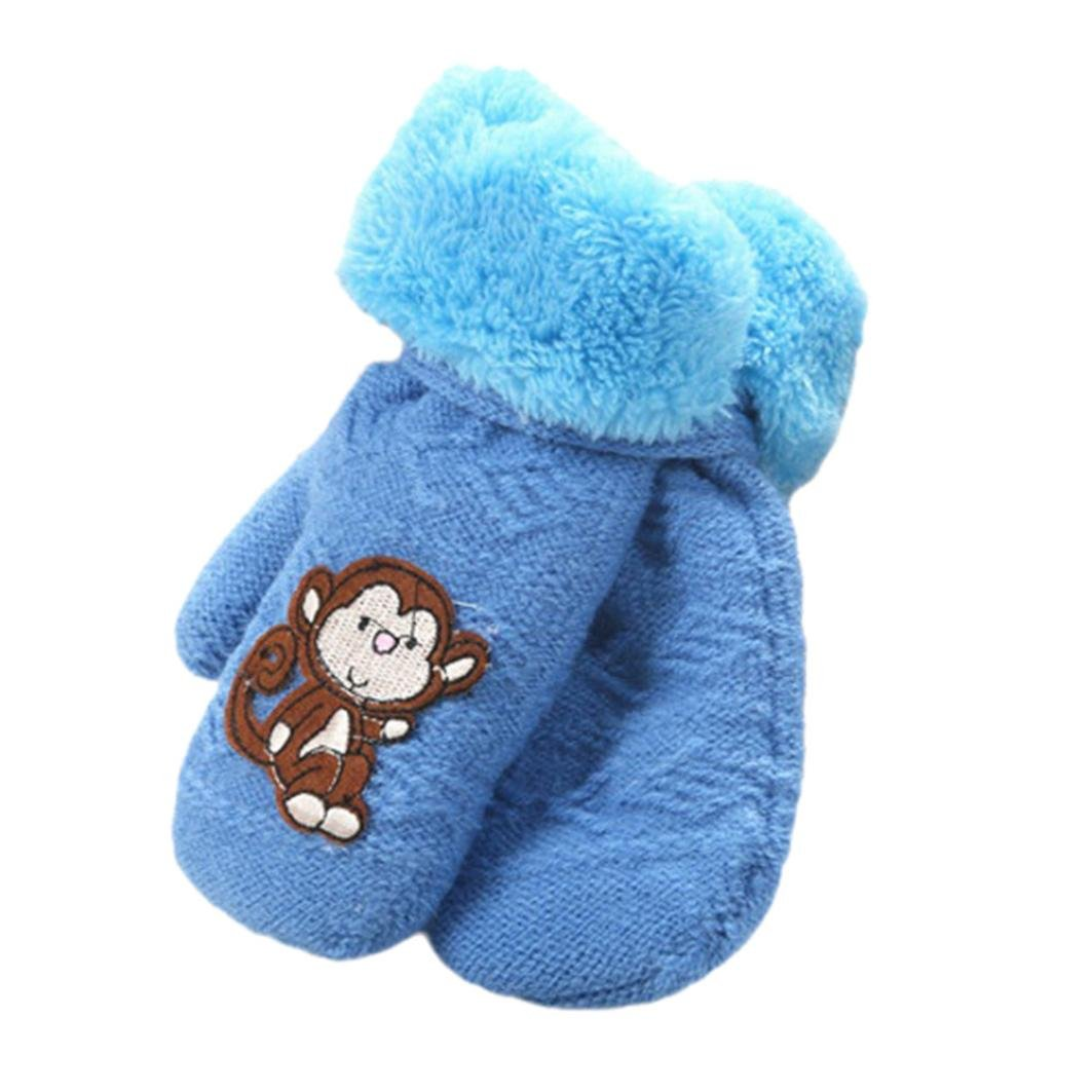 Muium Infant Baby Girls Boys Cute Thicken Hot Winter Warm Gloves For 1-8 Years old ST-007
